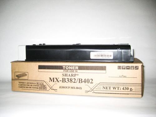 cartucho de toner sharp mxb 382/402/402sc