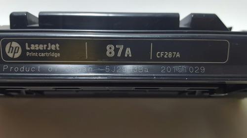 cartucho de toner vacio cf287a (87a) para remanufactura
