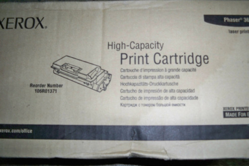 cartucho de toner xerox high capacity 3600 original