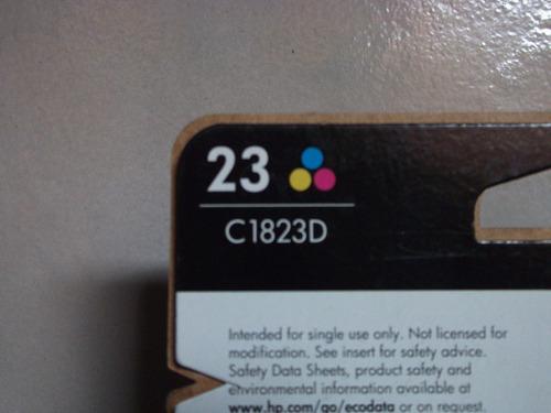 cartucho de tricolor hp 23  c1823d     vbf