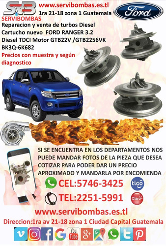 cartucho de turbo ford ranger 3.0 wlaa  geometría variable g