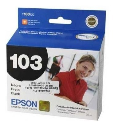 cartucho epson 103 negro original oferta