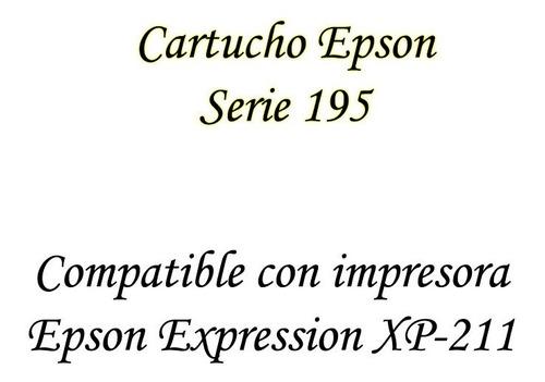 cartucho epson 195 original color amarillo magenta  bagc