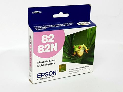 cartucho epson 82 82n - t082620 - magenta claro