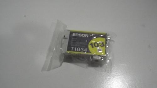 cartucho epson original lacrado 103 t1034 yellow amarelo