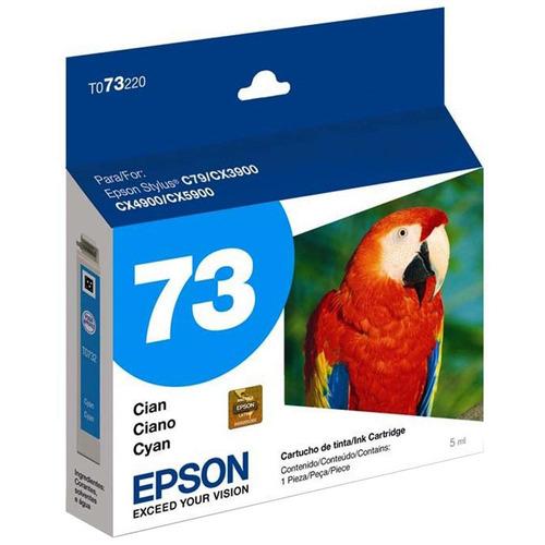 cartucho epson t073220-al (73) cian