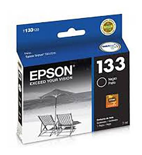 cartucho epson t133 negro original tinta 7 ml t133120