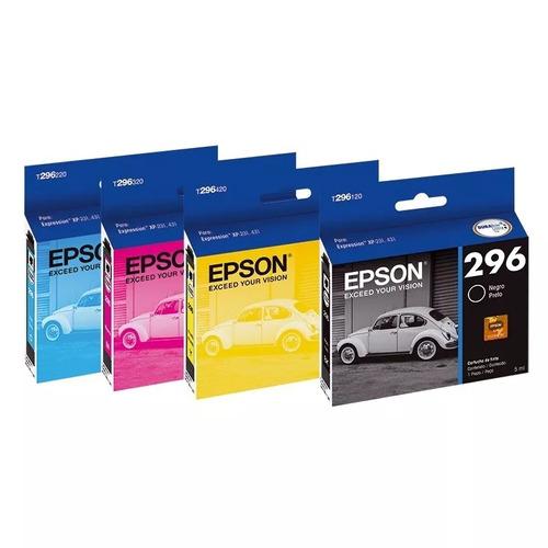 cartucho epson t296 original 296 xp231 xp431 t296 pack x 4