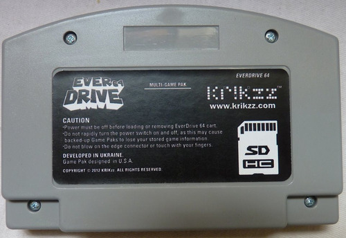 cartucho everdrive 64 v2.5 original krikzz n64 nitendo 64