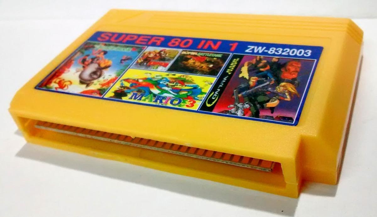Cartucho Family Game 80 Juegos En 1 Los Mejores Juegos 250 00