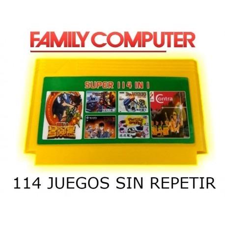 Cartucho Family Game Multiple 114 En 1 Los Mejores Juegos Ca 449