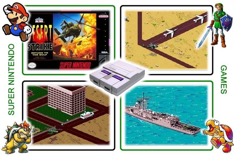 Cartucho Fita Desert Strike De Super Nintendo Snes Jogo R 29 99