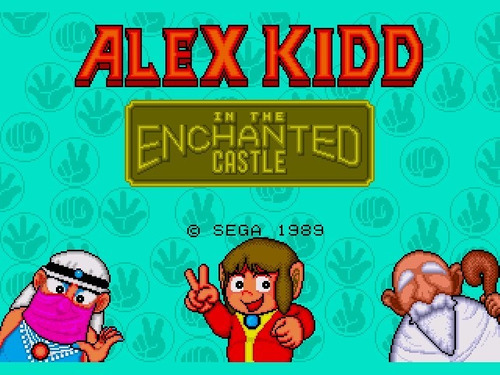 cartucho genesis mega drive alex kidd the enchanted castle