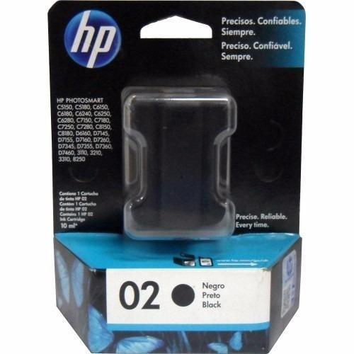 cartucho hp 02 negro original oferta