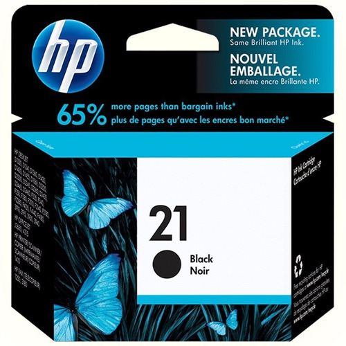 cartucho hp 21 negro original