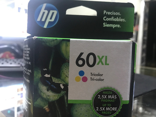 cartucho hp 60 xl tricolor