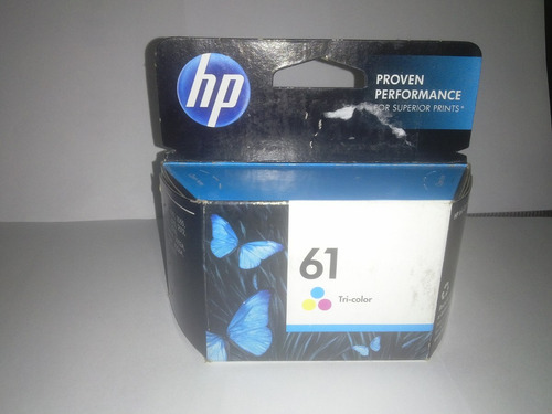 cartucho hp 61 tricolor original verificable pag hp