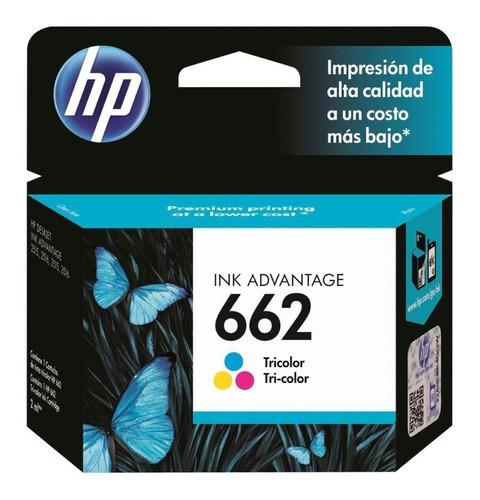 cartucho hp 662 color para imp 2515 2545 2645 original