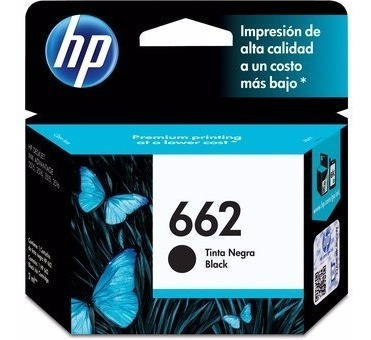 cartucho hp 662 negro o color original en caja 2515 3515