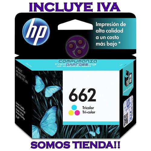 cartucho hp 662 tricolor cz104al original somos tienda!!!