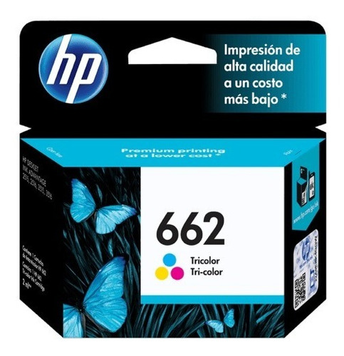 cartucho hp 662 tricolor original