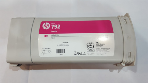 cartucho hp 792 magenta cn707a abierto sin uso