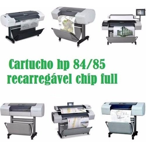 cartucho hp 84/85 hp 6 cores chip full recarregável