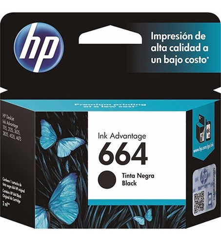 cartucho impresora hp 664 original - factura a / b