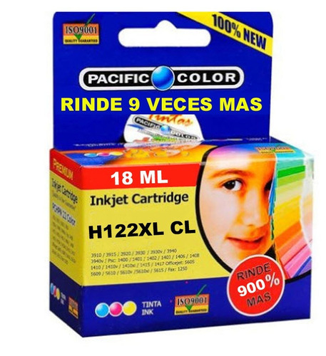 cartucho impresora pacific color 122 xl (rinde 9 veces mas)