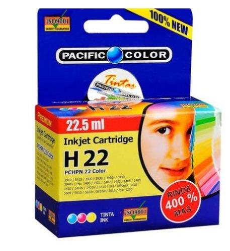 cartucho impresora pacific color 22 xl (rinde 4 veces mas)