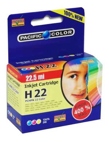 cartucho impresora tinta color n 22 rinde 400% mas 22.5ml