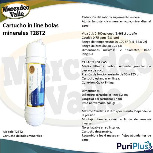 cartucho in line big bolas mineralizadas repuesto filtro