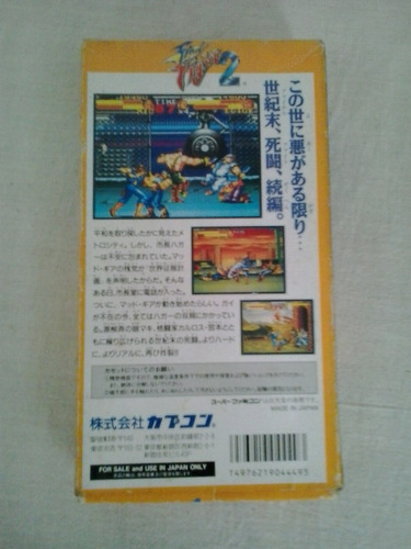 cartucho jogo nintendo super famicon final fighter 2