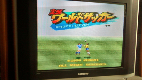 cartucho jogo super famicon perfect eleven  nichibutss