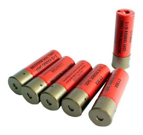 cartucho magazine shotgun (escopeta) cyma - kit  6 und