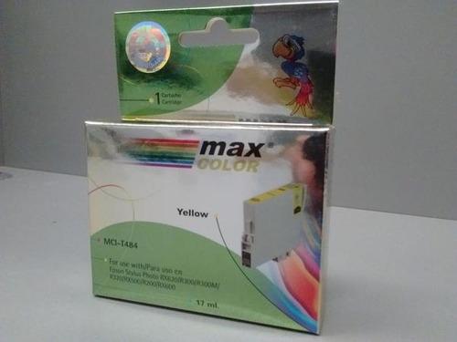 cartucho max color mci-t484 para epson x 10 unidades