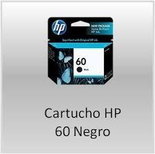 cartucho negro hp 60