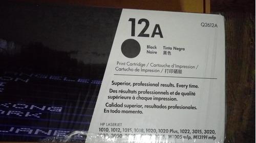 cartucho original de toner negro hp 12a laserjet (q2612a)