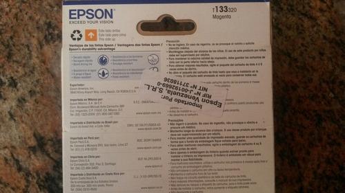 cartucho original epson 133 magneta nuevo