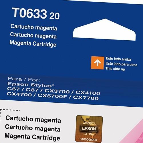 cartucho original epson t0633 - magenta 8ml - val. 05/2008