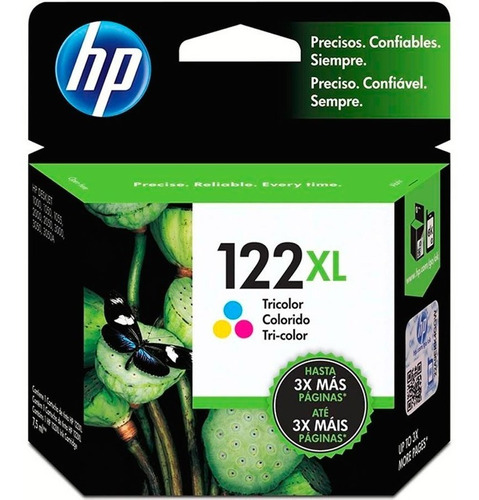 cartucho original hp 122xl tricolor ch564hl 3050 2050