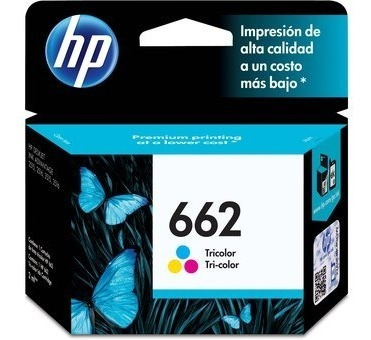 cartucho original hp 662 negro o color