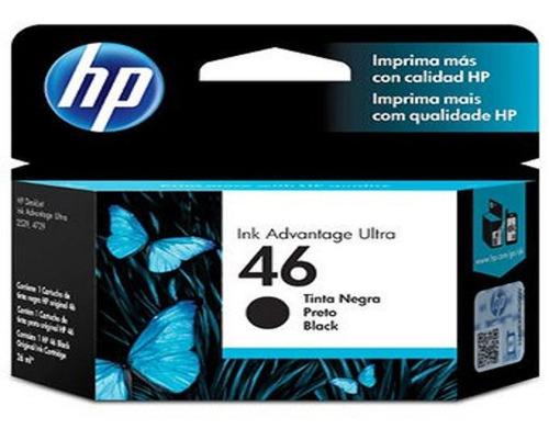 cartucho original tinta negro hp 46 advantage- techbox