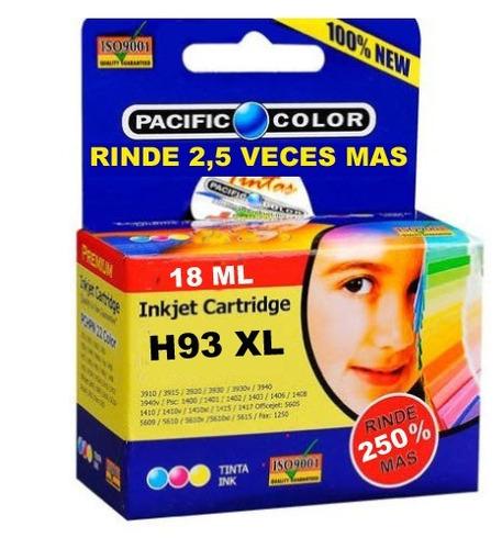 cartucho pacific color 93 xl (rinde 2,5 veces más) compatibl