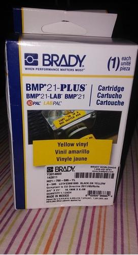 cartucho para impresora brady de 19mm (3/4 ) x 6,4m (21 )