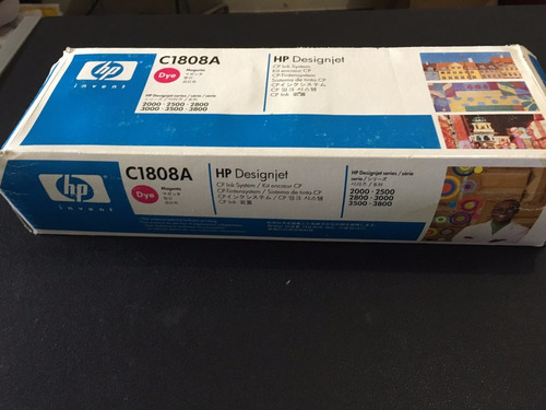 cartucho plotter hp designjet cp dye  c1808a magenta