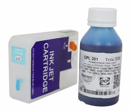 cartucho recargable p/ impresora epson 3880 3800 tinta ocp