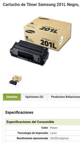 cartucho samsung proxpress m 403x m408x 201l