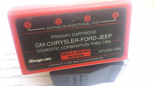 cartucho scanner snap on 1998 ford jeep gm mt2500-1095