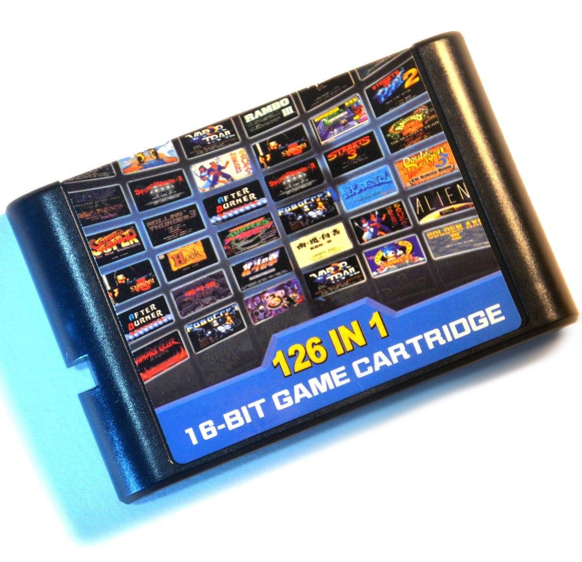 Cartucho Sega Genesis Megadrive 126 In 1 Mejores Juegos 1 399